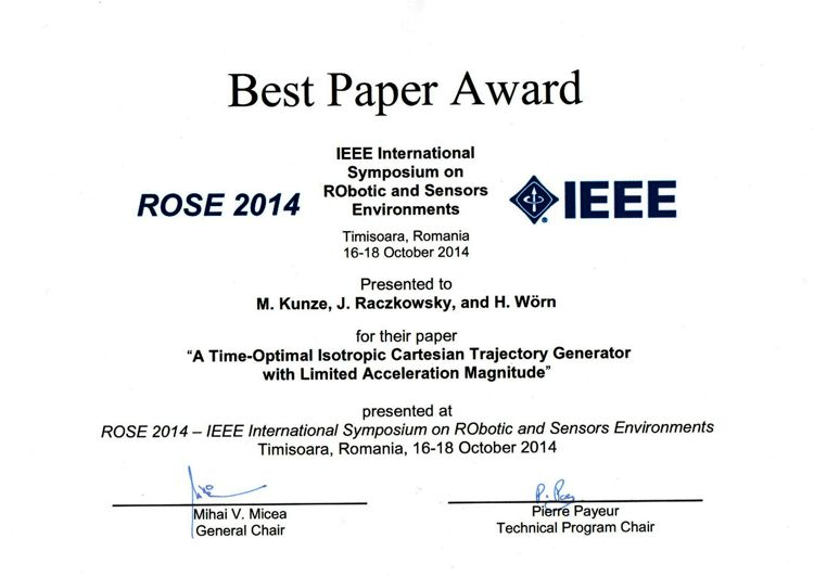 Best_Paper_Award_ROSE_14
